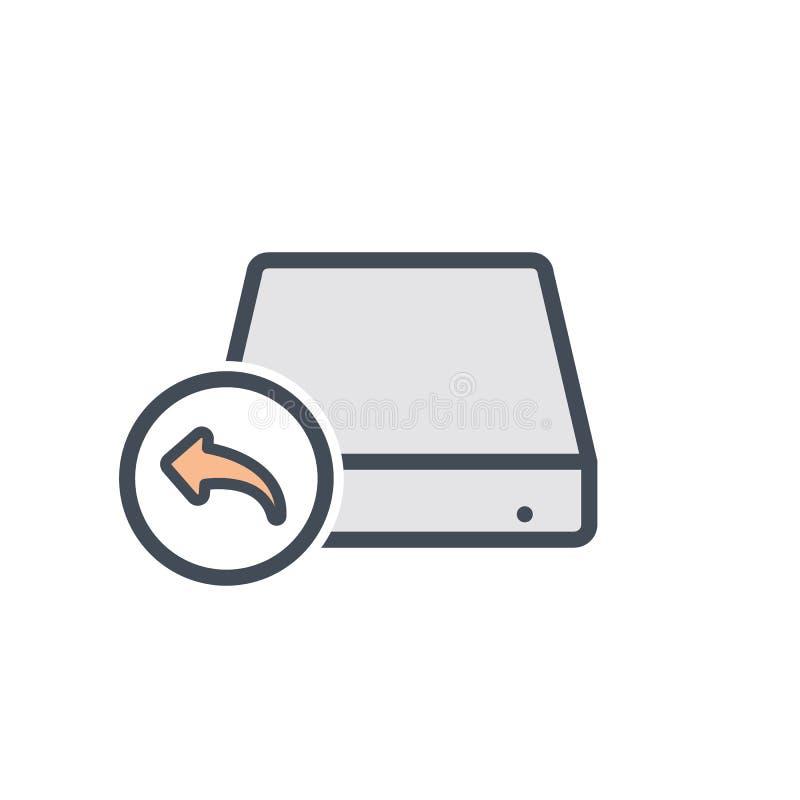 Ícone duro do armazenamento da unidade de disco alternativa ilustração do vetor