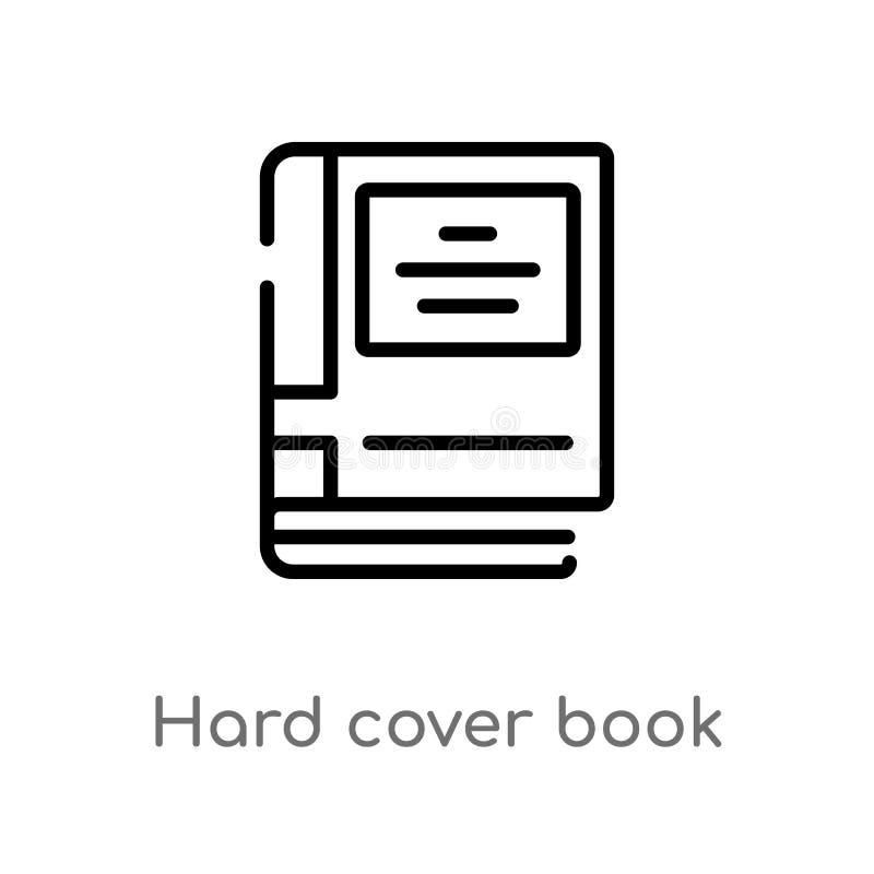 ícone duro do vetor do livro da tampa do esboço linha simples preta isolada ilustração do elemento do conceito da educação Vetor  ilustração do vetor
