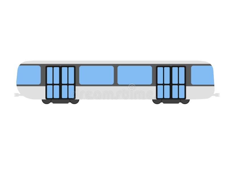 Ícone e logotipo lisos do metro Ilustração do vetor dos desenhos animados ilustração royalty free
