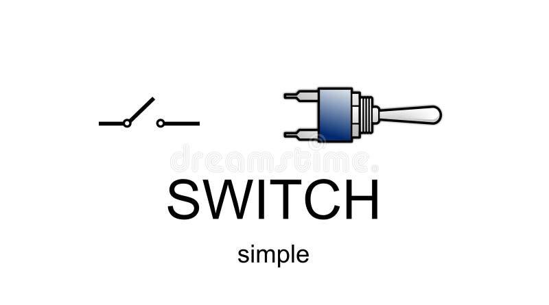 Cone e smbolo simples do interruptor ilustrao stock ilustrao download cone e smbolo simples do interruptor ilustrao stock ilustrao de unidirectional componente ccuart Images