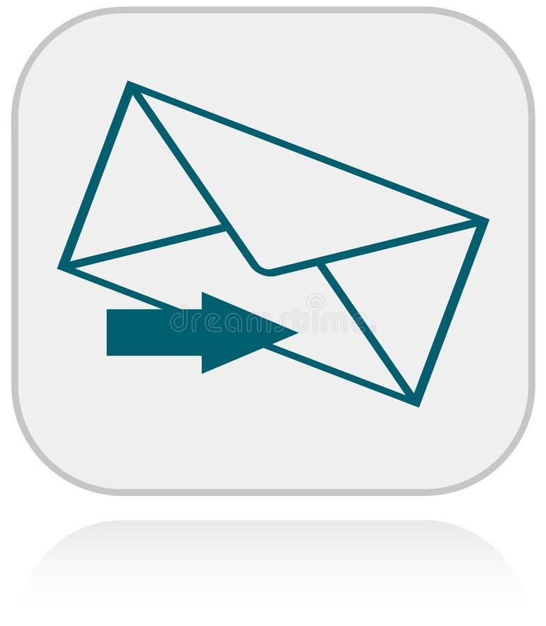 Ícone e seta do email para uma comunicação ilustração royalty free