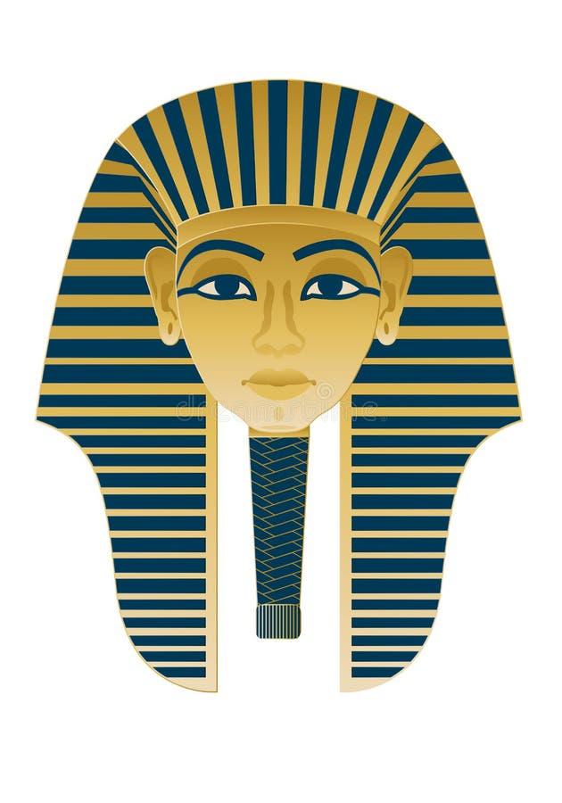Ícone egípcio Tutankhamun ilustração royalty free