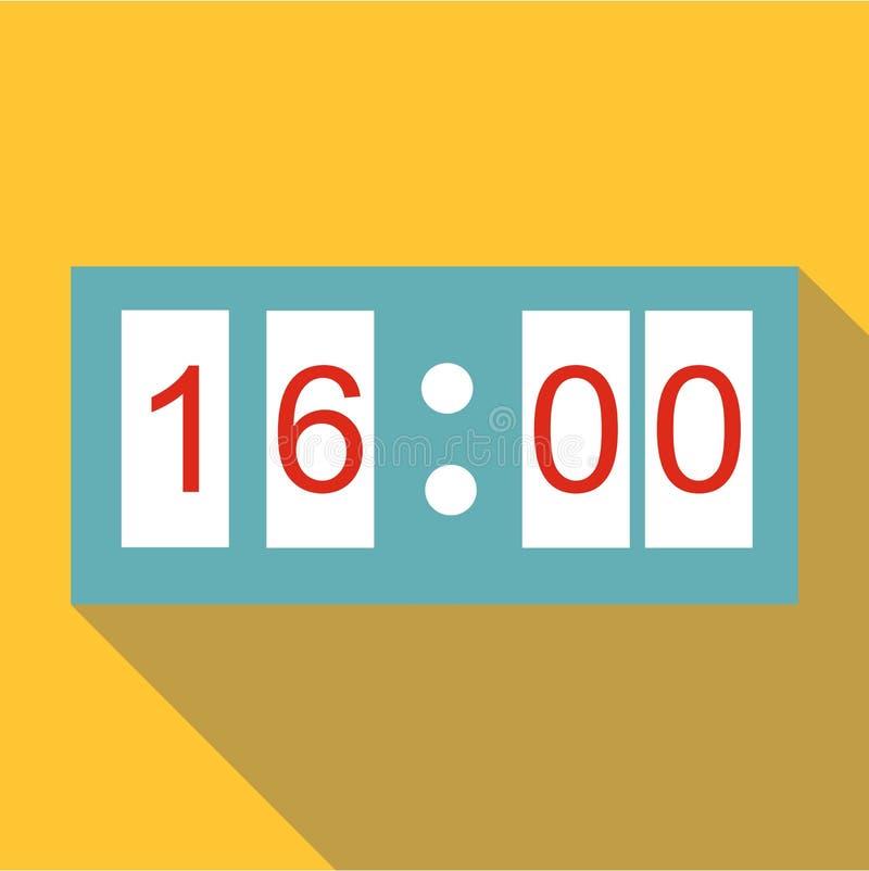 Ícone eletrônico do relógio, estilo liso ilustração stock