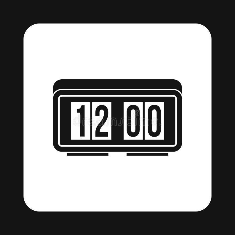 Ícone eletrônico do relógio da tabela, estilo simples ilustração royalty free