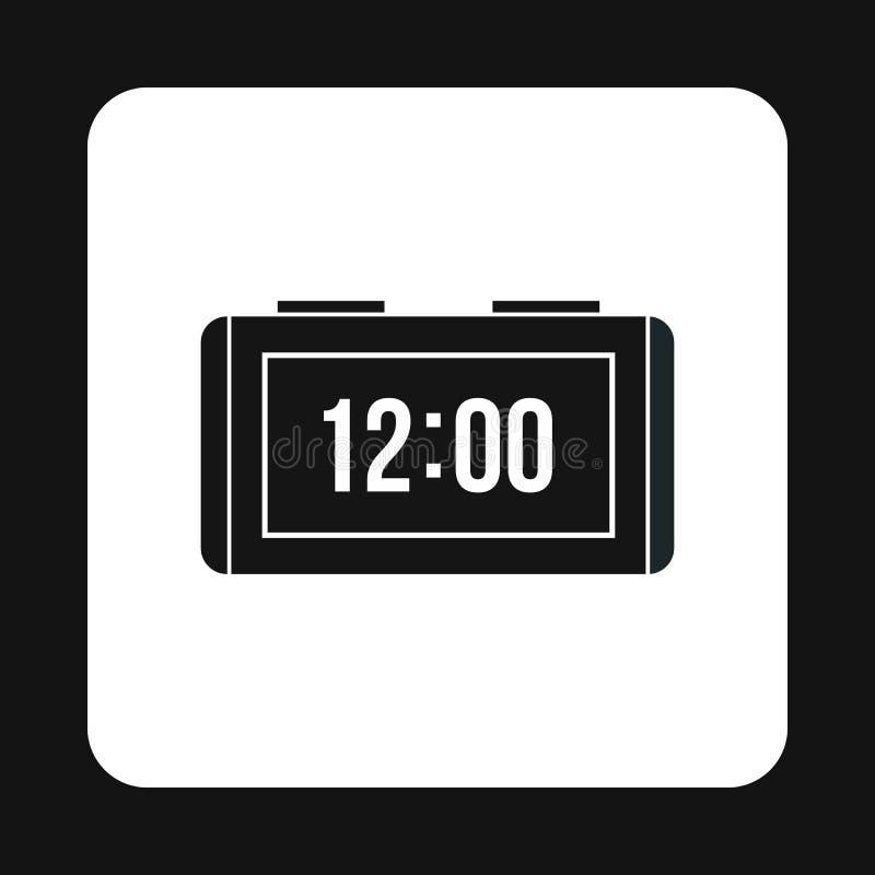 Ícone eletrônico do relógio, estilo simples ilustração royalty free