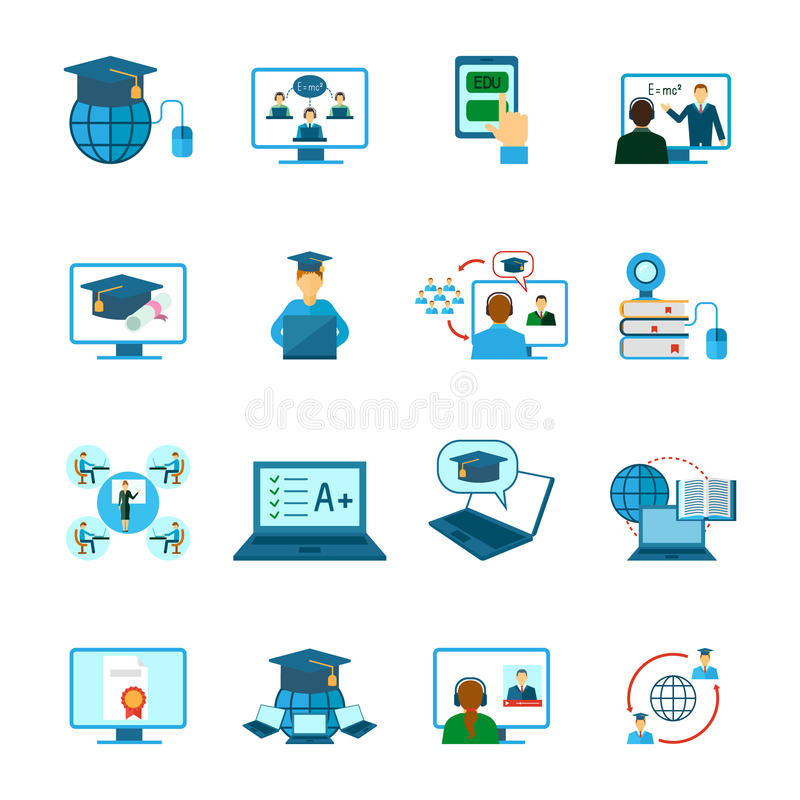 Ícone em linha da educação liso ilustração stock