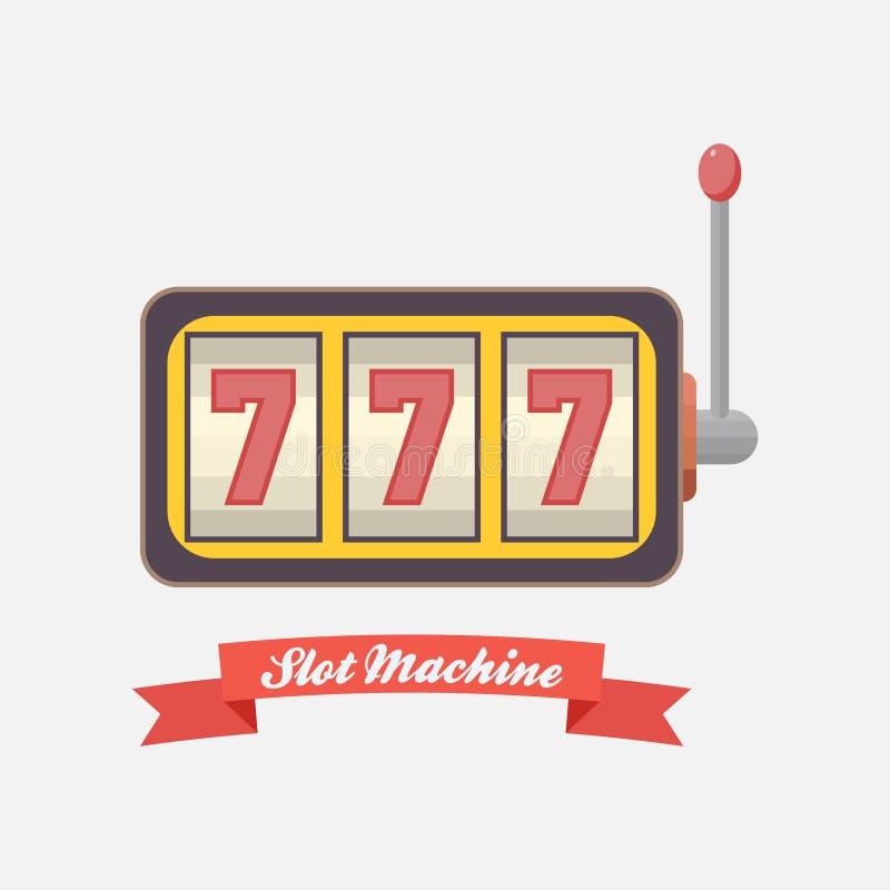 Ícone em linha do casino, slot machine, ganhando, jackpot 777 ilustração royalty free