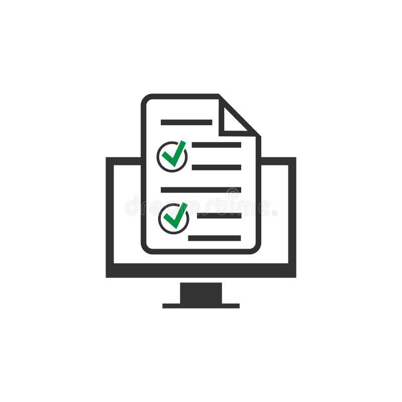 ícone em linha do formulário isolado no fundo branco Ilustração do vetor ilustração stock