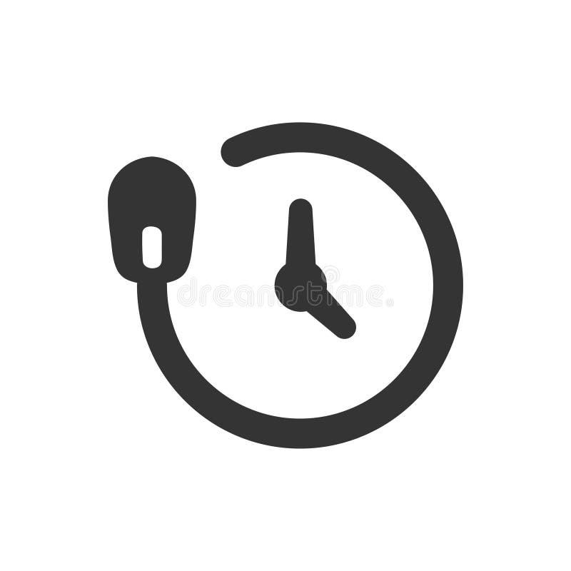Ícone em linha do tempo ilustração stock