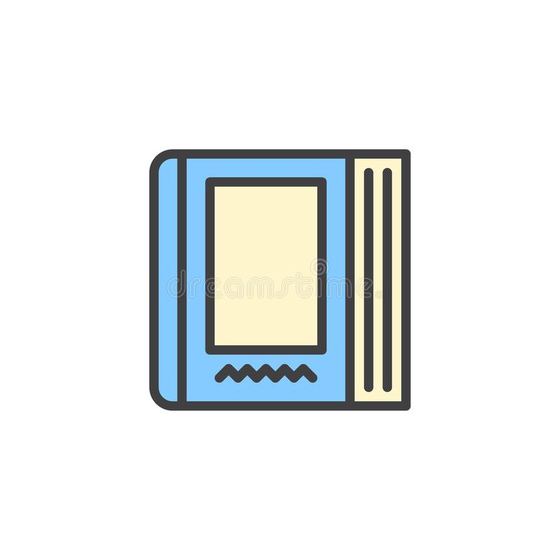 Ícone enchido livro do esboço da enciclopédia ilustração do vetor