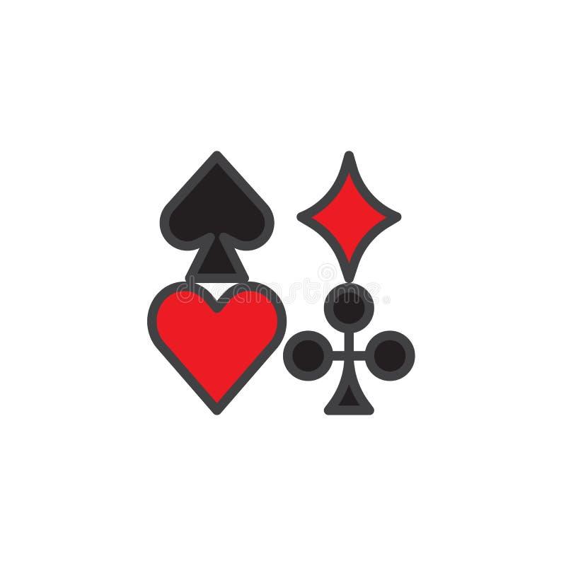 Ícone enchido ternos do esboço do cartão ilustração do vetor