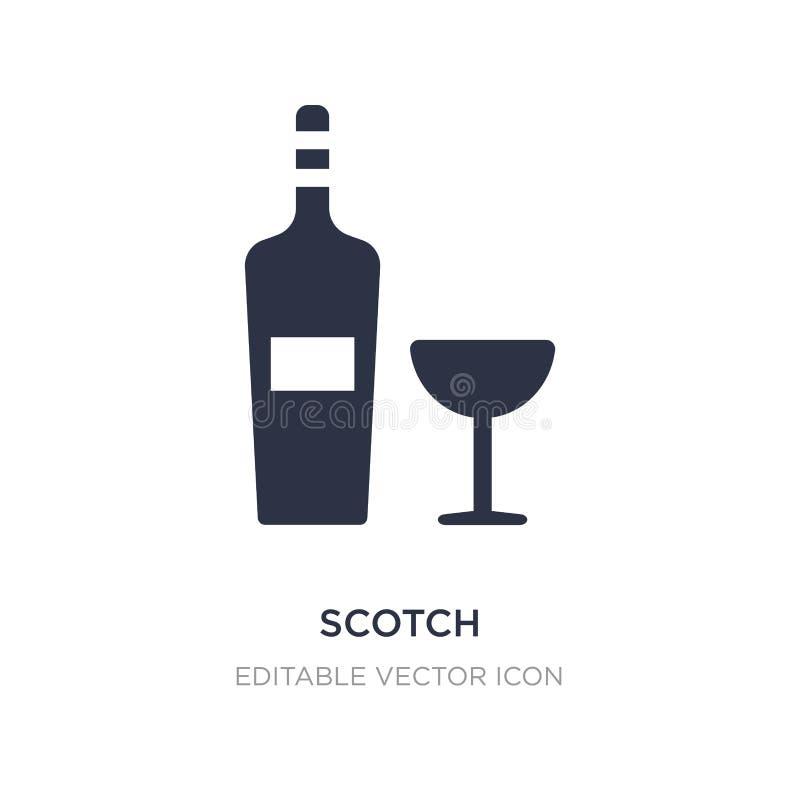 ícone escocês no fundo branco Ilustração simples do elemento do conceito do alimento ilustração do vetor