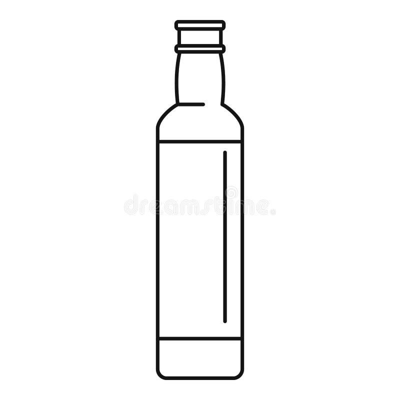 Ícone espanhol do azeite, estilo do esboço ilustração do vetor