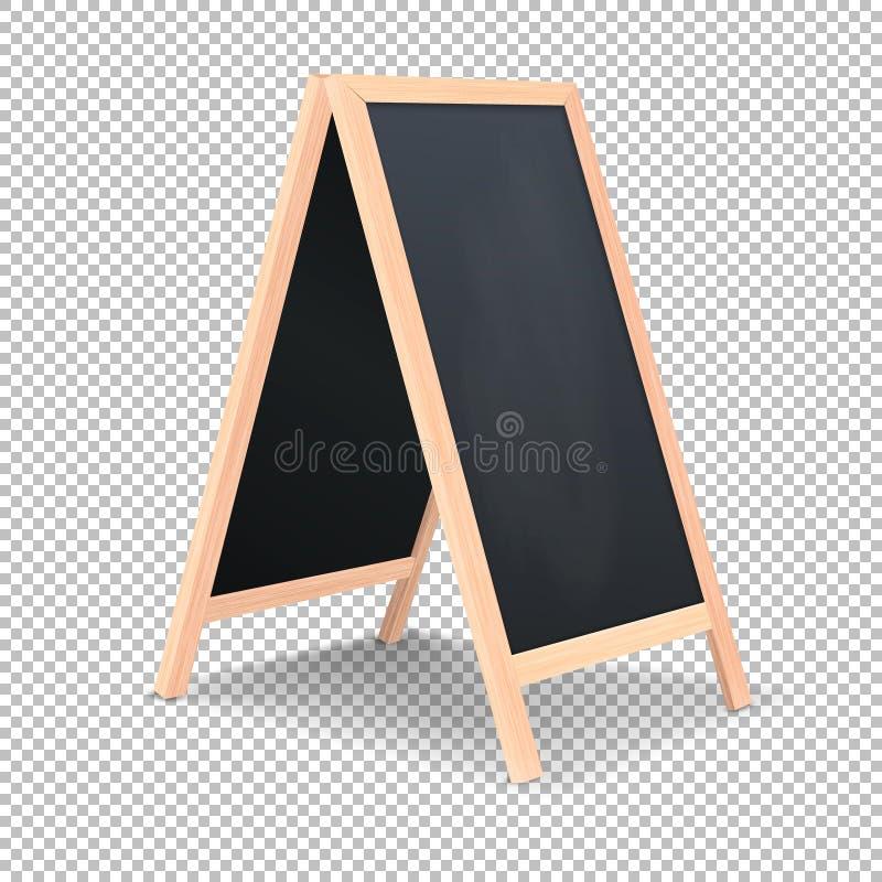 Ícone especial realístico da placa do anúncio do menu Fundo exterior do quadro-negro do restaurante limpo do vetor Modelo de ilustração do vetor