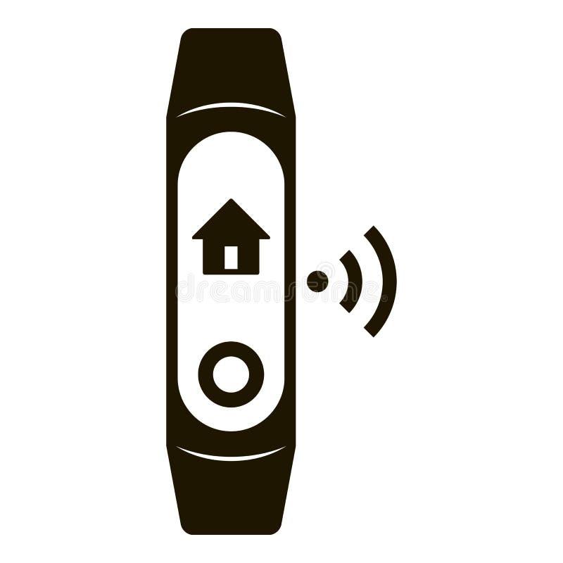 Ícone esperto da faixa da casa, estilo simples ilustração stock