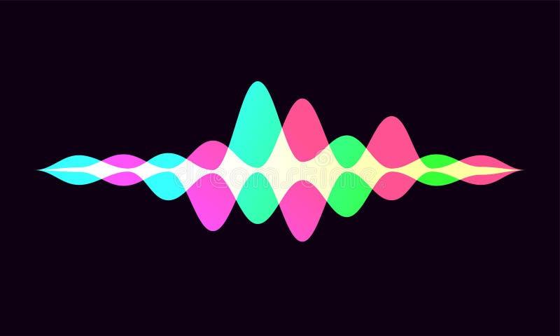 Ícone esperto do app da onda do reconhecimento da voz do Ai ilustração do vetor