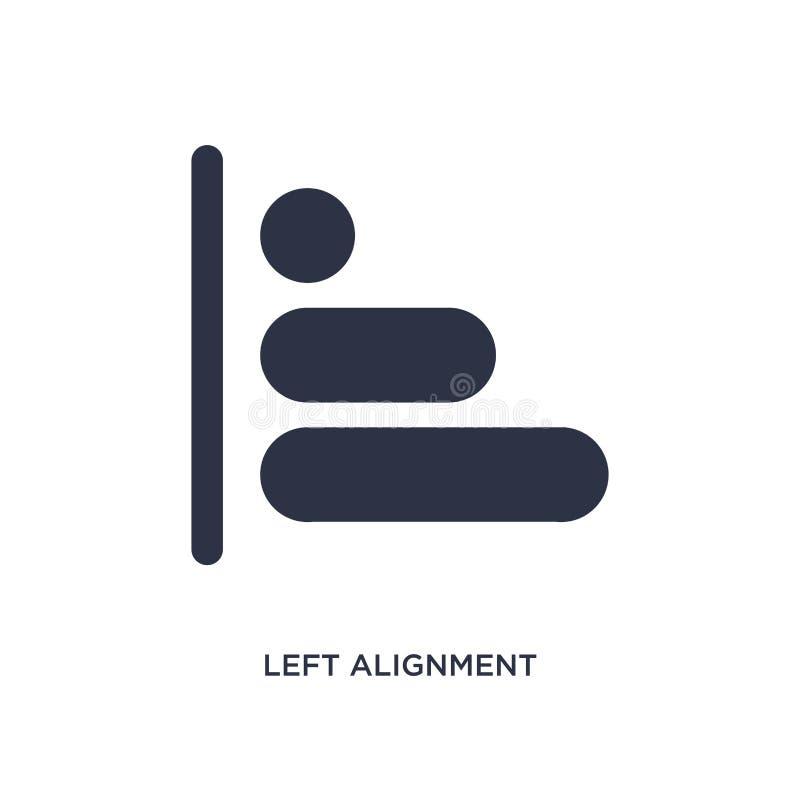 ícone esquerdo do alinhamento no fundo branco Ilustração simples do elemento da figura geométrica conceito ilustração royalty free