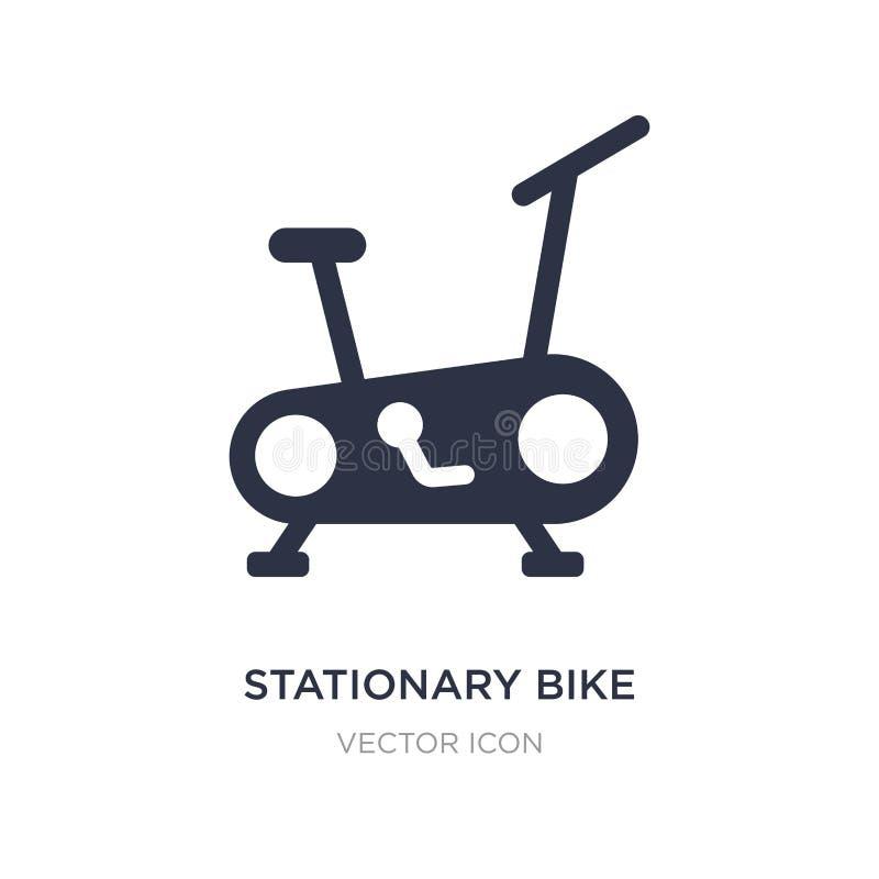 ícone estacionário da bicicleta no fundo branco Ilustração simples do elemento da saúde e do conceito médico ilustração do vetor