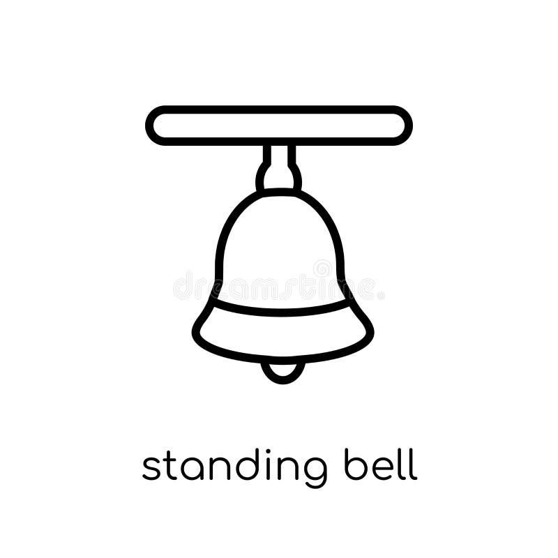 Ícone estando do sino Posição linear lisa moderna na moda do vetor para ser ilustração stock