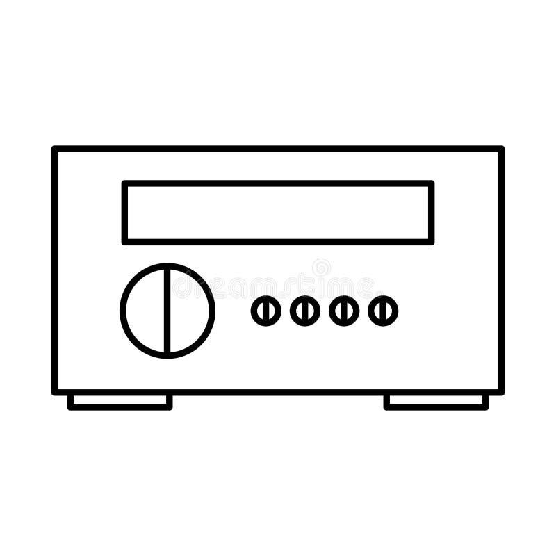 Ícone estereofônico do aparelho eletrodoméstico ilustração do vetor