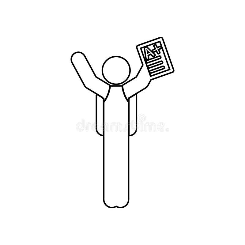 ícone excelente da marca Elemento de volta à escola para o conceito e o ícone móveis dos apps da Web Esboço, linha fina ícone par ilustração do vetor