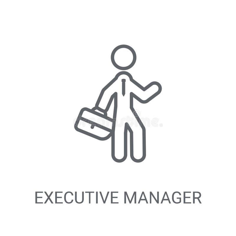 Ícone executivo do gerente Conceito executivo na moda do logotipo do gerente sobre ilustração royalty free