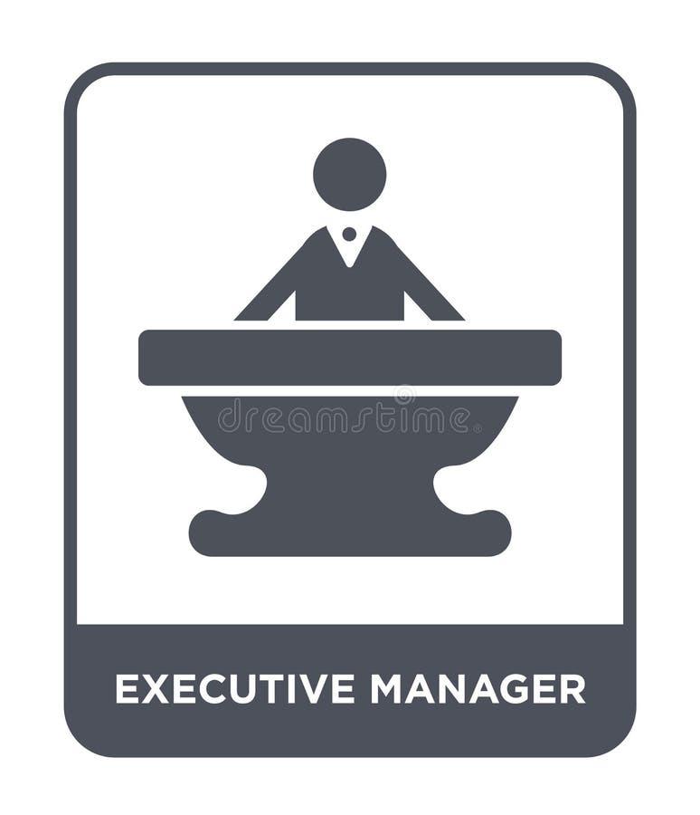 ícone executivo do gerente no estilo na moda do projeto ícone executivo do gerente isolado no fundo branco ícone executivo do vet ilustração royalty free