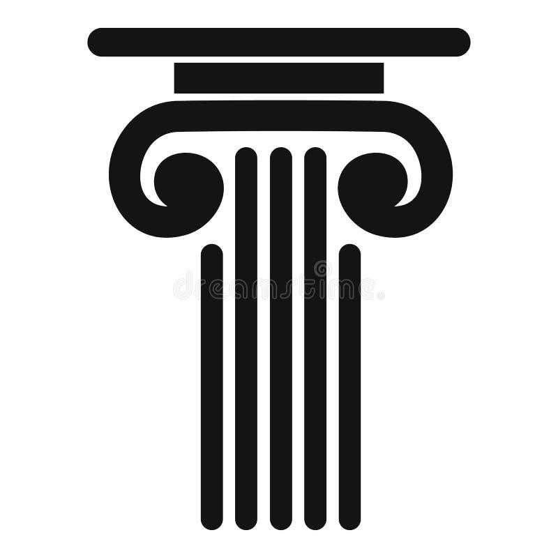 Ícone exterior da coluna, estilo simples ilustração stock