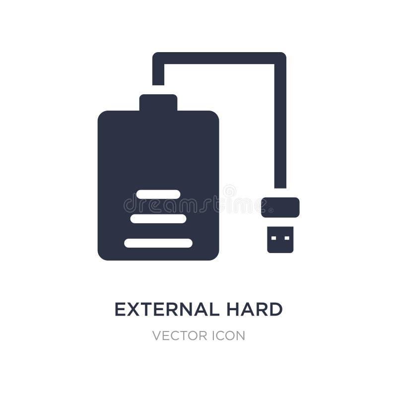 ícone externo do disco rígido no fundo branco Ilustração simples do elemento do conceito de hardware ilustração stock