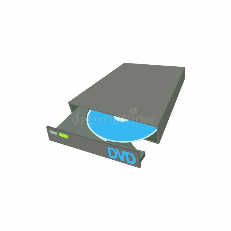 Ícone externo do escritor do queimador do CD DVD do Portable ilustração stock