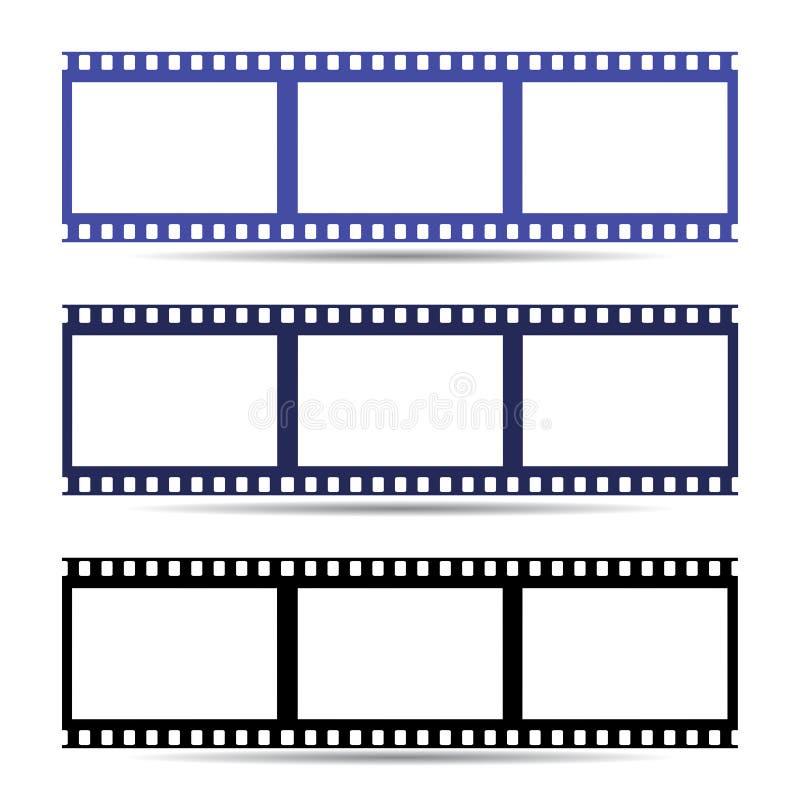 Ícone fácil da fita do quadro de filme Ilustração ilustração stock
