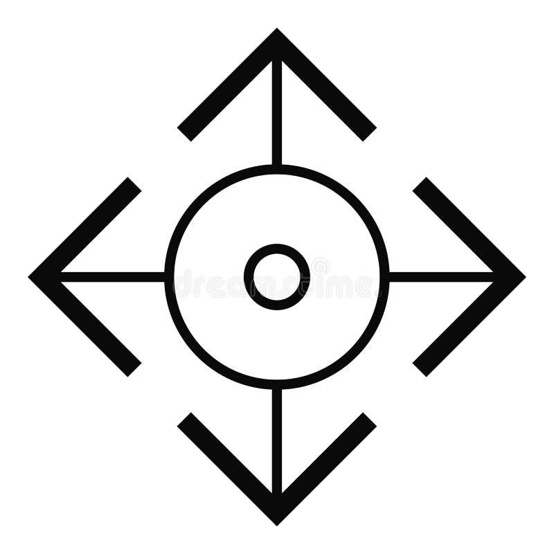 Ícone fácil do alvo, estilo simples ilustração stock