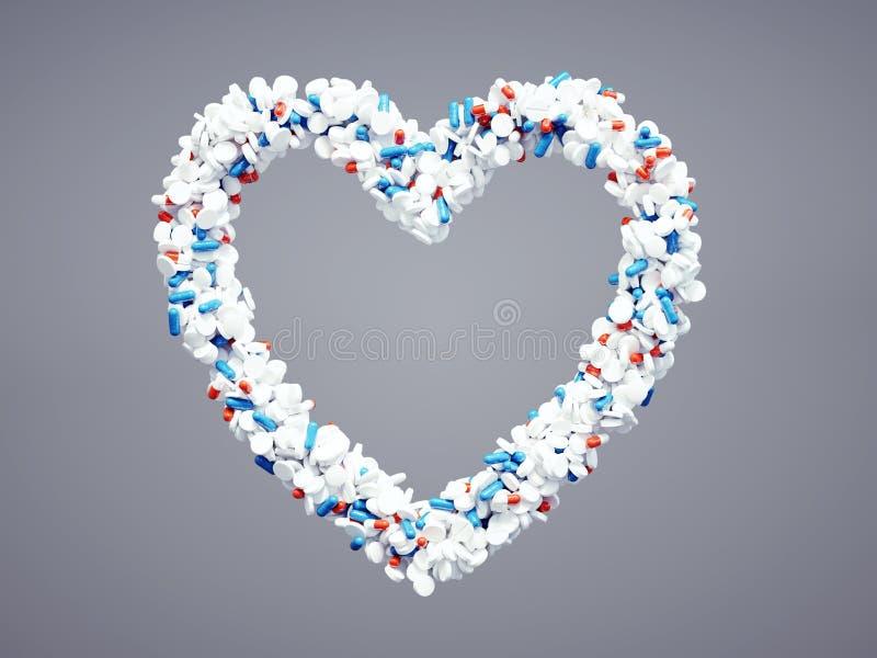Ícone farmacêutico do coração ilustração royalty free