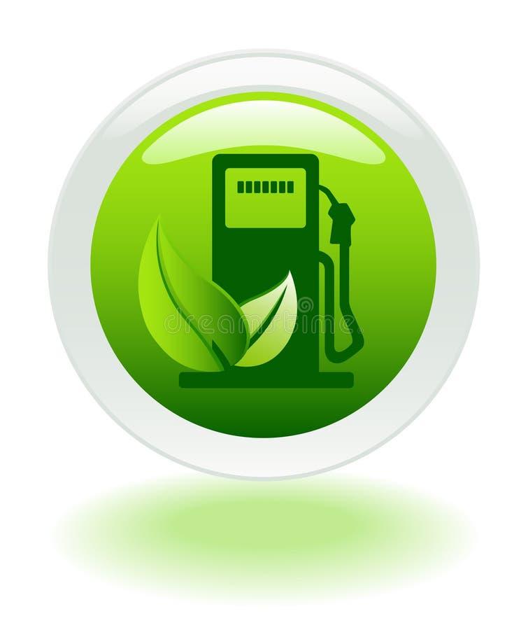 Ícone favorável ao meio ambiente do combustível ilustração stock