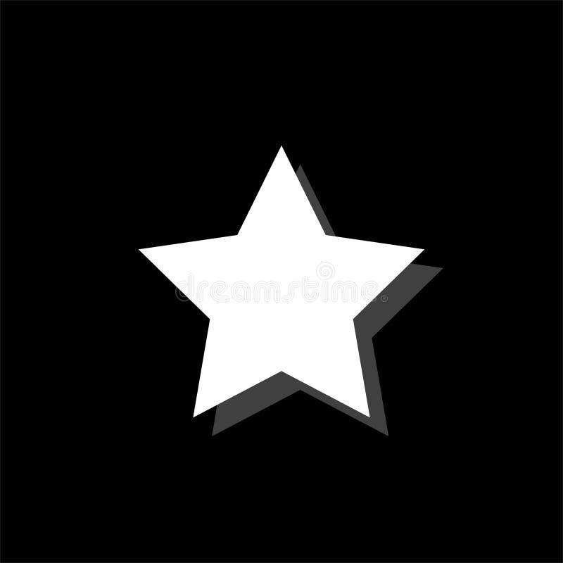 Ícone favorito da estrela horizontalmente ilustração do vetor
