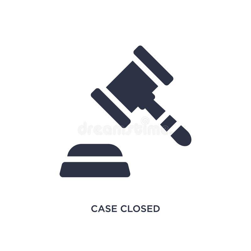 ícone fechado do caso no fundo branco Ilustração simples do elemento do conceito da lei e da justiça ilustração royalty free