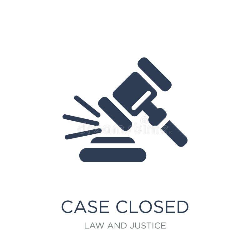 Ícone fechado do caso O caso liso na moda do vetor fechou o ícone em b branco ilustração royalty free