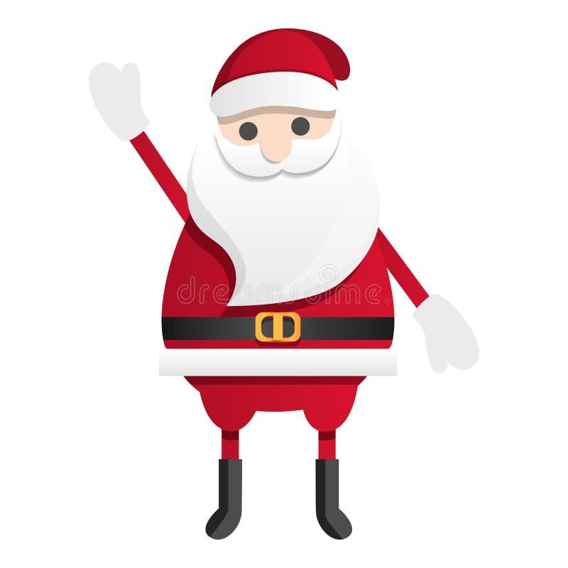 Ícone feliz de Papai Noel, estilo dos desenhos animados ilustração do vetor