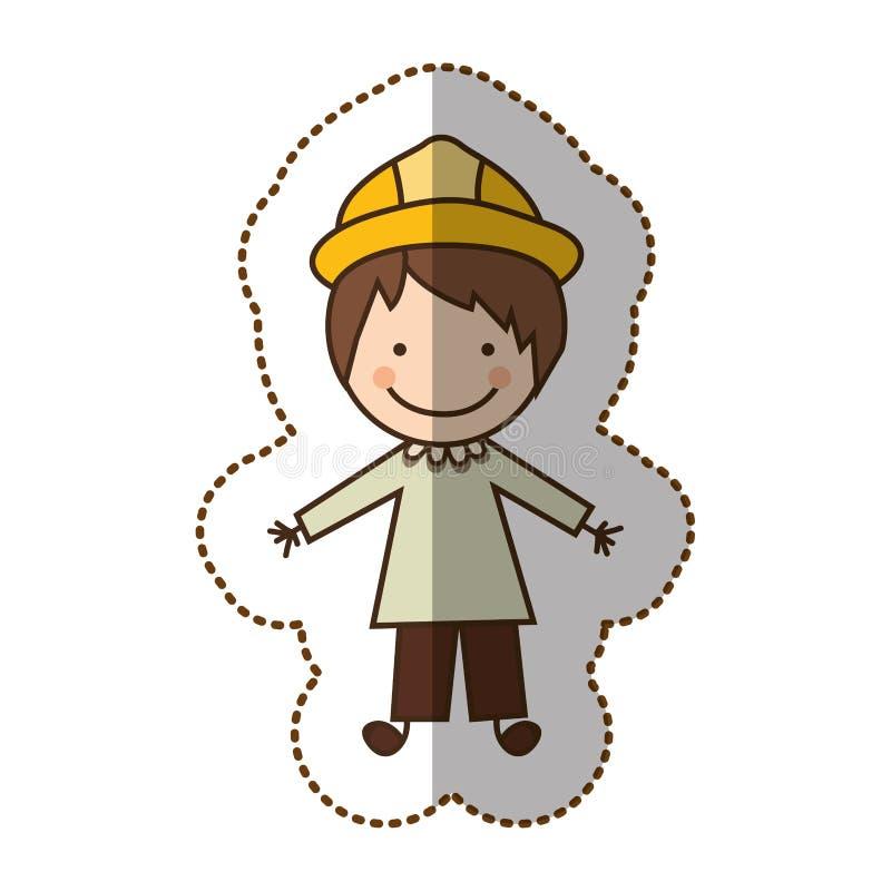ícone feliz do arquiteto do homem ilustração royalty free