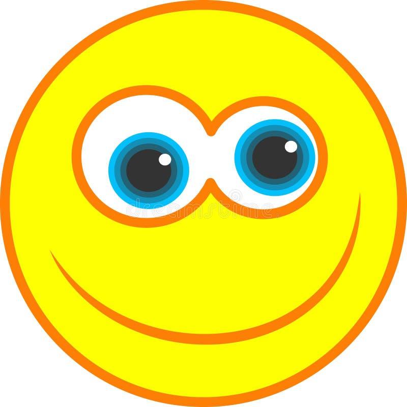 Ícone feliz do smiley ilustração royalty free