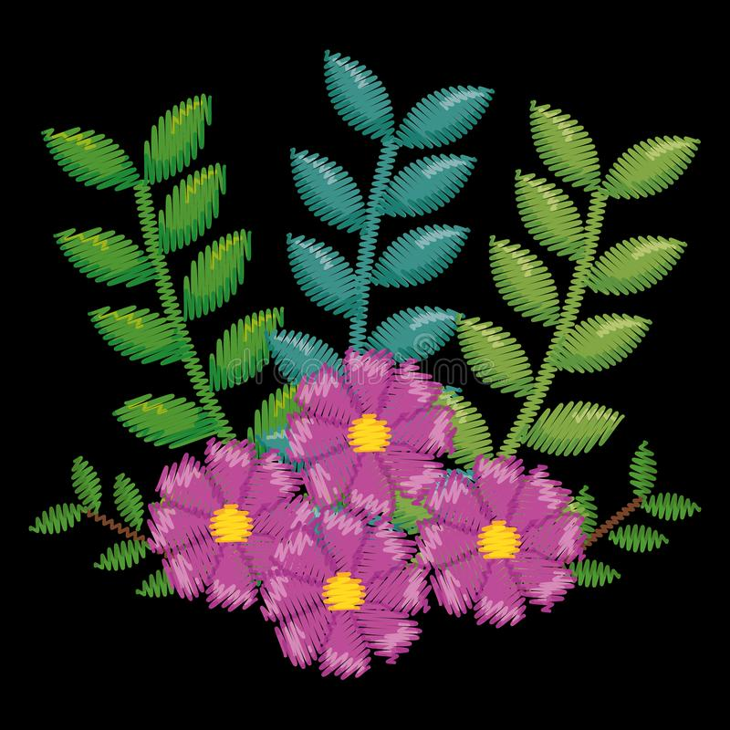 Ícone floral bonito da decoração fotos de stock