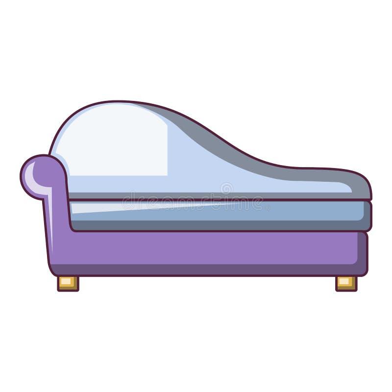 Ícone formado do sofá, estilo dos desenhos animados ilustração royalty free
