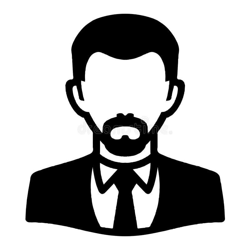 Ícone formal do Avatar do homem ilustração royalty free