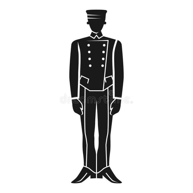 Ícone forte da estada da lavadeira, estilo simples ilustração royalty free