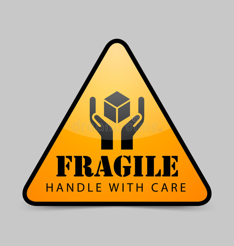 Ícone frágil ilustração royalty free