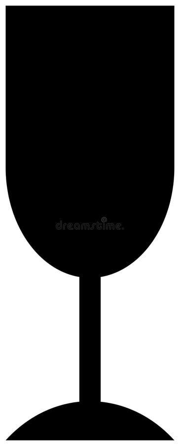 Ícone frágil de vidro ilustração do vetor