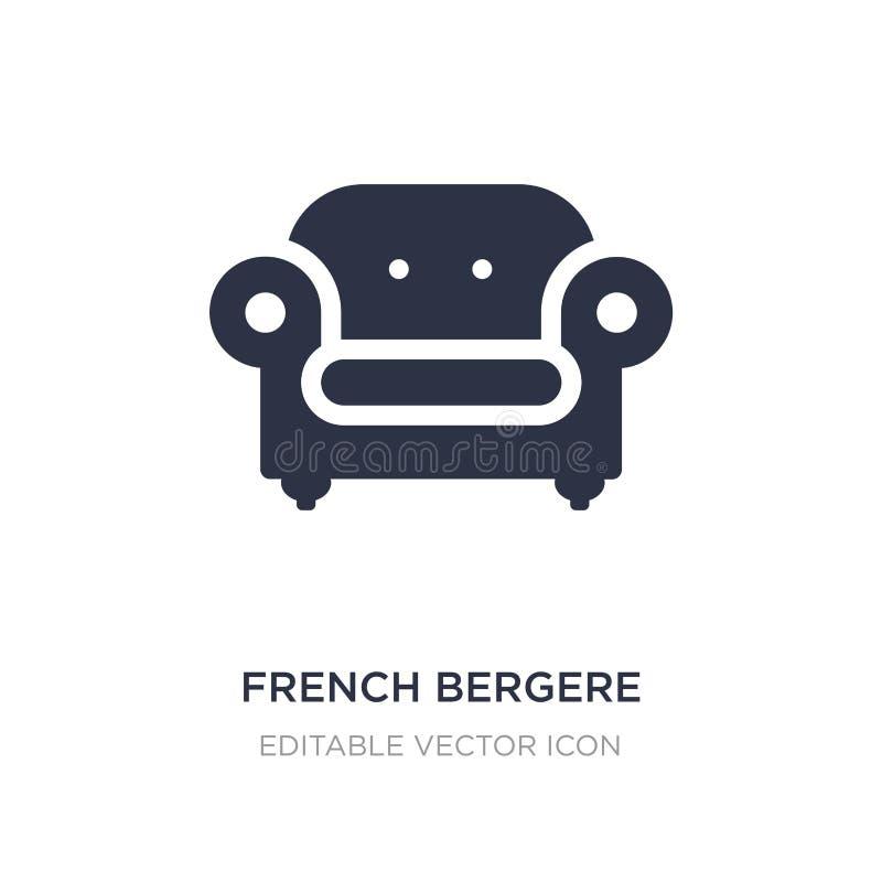 ícone francês do bergere no fundo branco Ilustração simples do elemento do conceito das construções ilustração do vetor