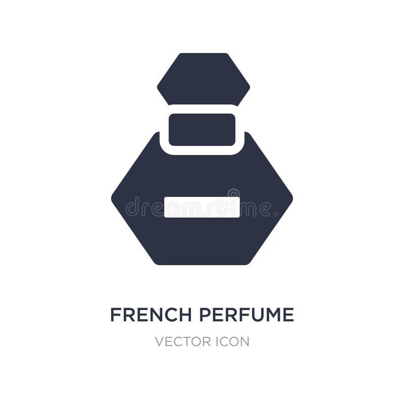 ícone francês do perfume no fundo branco Ilustração simples do elemento do conceito da beleza ilustração do vetor