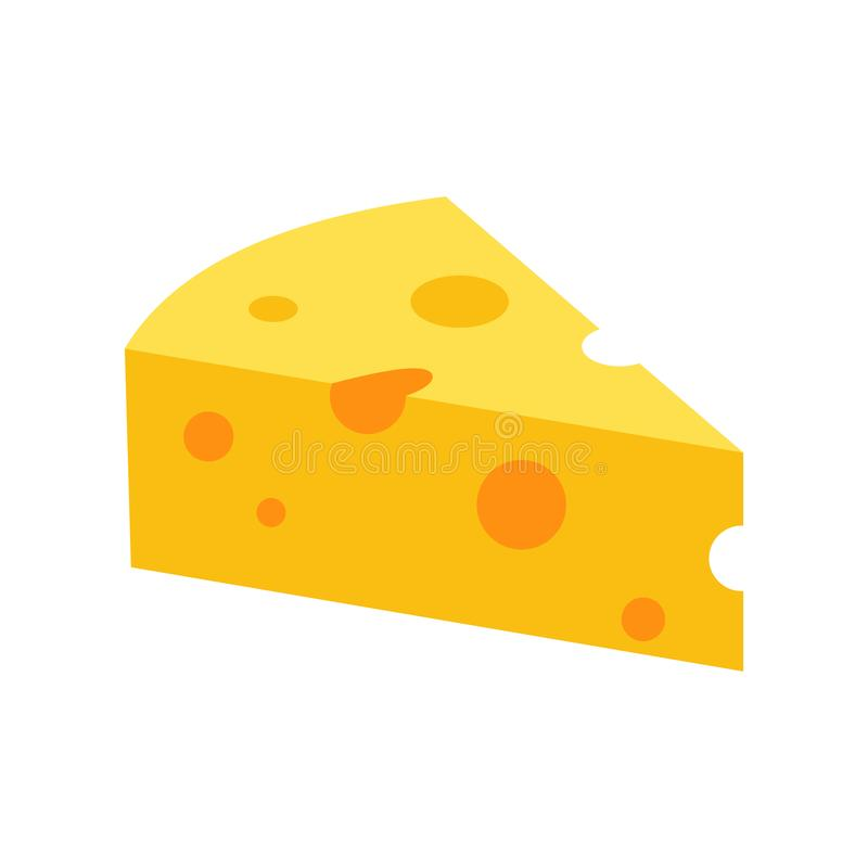 Ícone francês do queijo, estilo liso ilustração royalty free