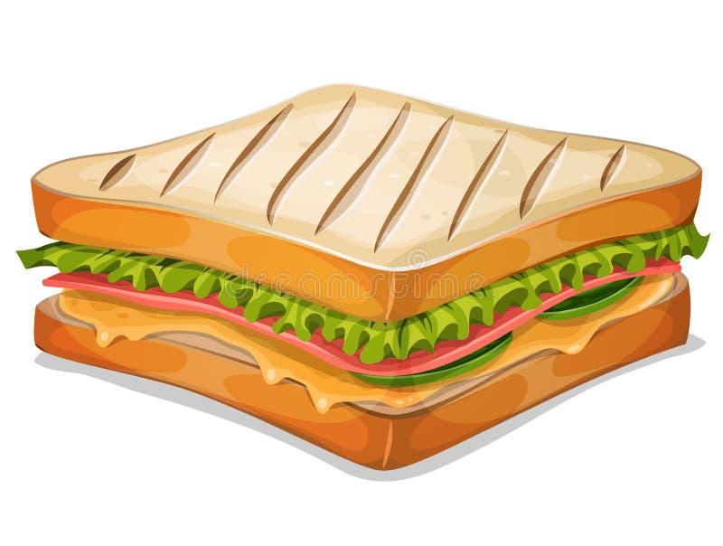 Ícone francês do sanduíche ilustração royalty free